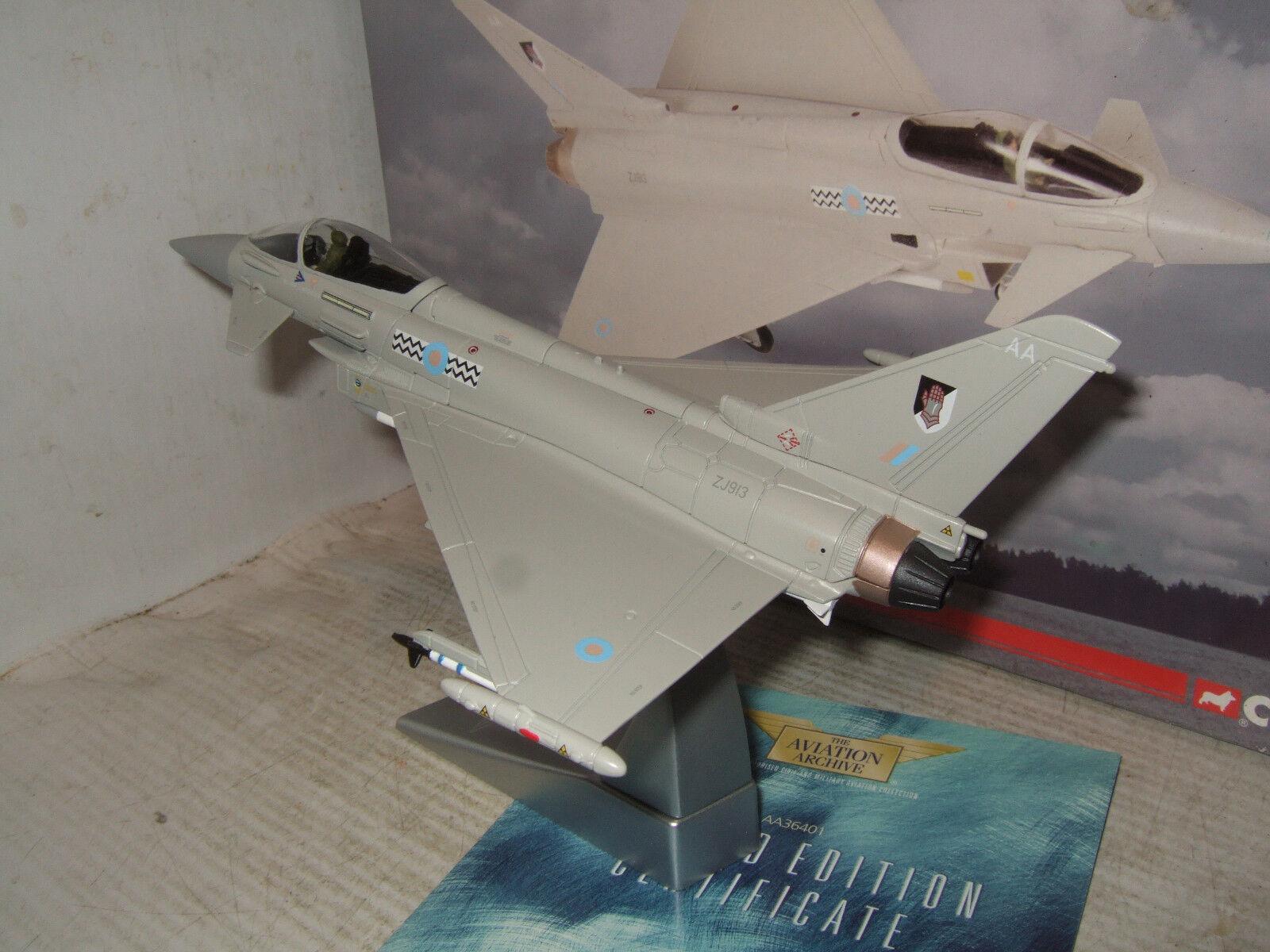 Corgi AA36401 Eurofighter Tifón F2, 17 (R), Sqn RAF coningby en escala 1 72