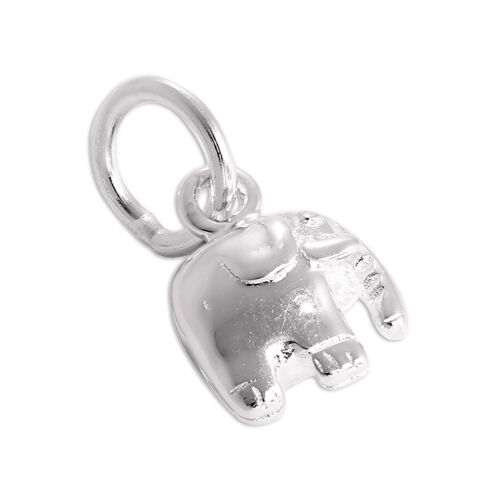 Tiny Sterling Silver Elephant Charm Small African Indian Wildlife Safari Charms
