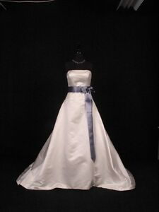 Smoke-Blue-Double-Faced-Satin-Ribbon-Sash-Bridal-Wedding-Bridesmaid-Brand-New