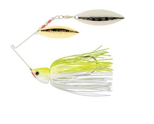 Strike King Burner Spinnerbait 3//8 oz Chartreuse//White