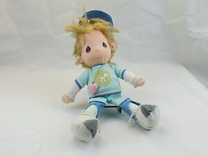 Applause-Precious-Moments-BOBBY-Baseball-Player-Plush-Doll-15-034-1985-Sam-Butcher