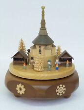 Spieldose Spieluhr Seiffener Weihnachtsmarkt Original Handwerkskunst Erzgebirge