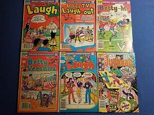 6 Archie Comic Books