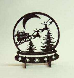 Santa/'s Sleigh Snowglobe Swibbogen Kit CHM
