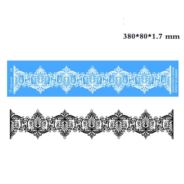 3D Silicone Cake Decorating Lace Icing Impression Mat For Creating Edible Lace