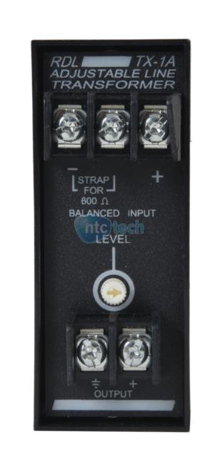 RDL TX-1A Adjustable Audio Balanced to Unbalanced Transformer New