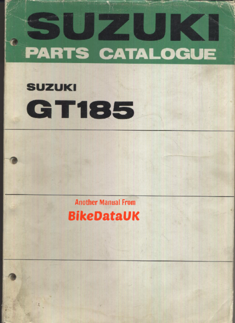 Suzuki Gt185 (1973-1974) Genuine Parts List Catalog Book Manual GT 185 RAM  Bk53