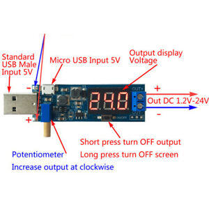 XY-UP USB Boost//Buck Power Supply Module USB Step Up//Down Adjustable Converter