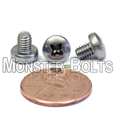 M4 x 5mm  Stainless Steel Phillips Pan Head Machine Screws Cross Recessed A2