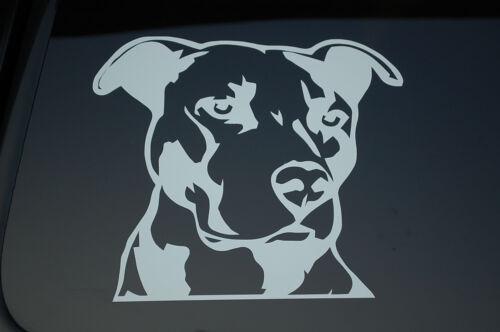 """6.25/"""" X 5.5/"""" chien de sauvetage adopter Pitbull Vinyle Sticker Autocollant Choisissez couleur V168"""
