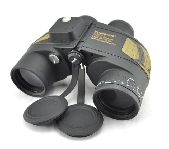 Visionking 7x50 floating Waterproof Binoculars Compass range finder Marine New