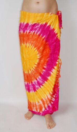 sa197 Nuevo Tie Dye Pareo Vestido Falda Pareo abrigo Cobertor Integral encubrir