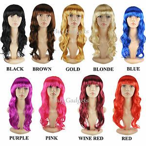 WOMENS-LADIES-LONG-WAVY-CURLY-FANCY-DRESS-COSPLAY-WIGS-POP-PARTY-COSTUME