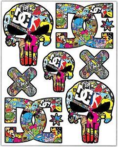 Set-7-Vinile-Adesivi-Punisher-Cranio-DC-Bomb-Vinyl-Stickers-Auto-Moto-Casco-Bici
