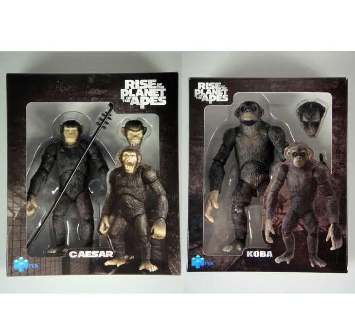 LOT OF 2 new Rise Of The Planet Of The Apes Caesar Koba  action figure 6   S2