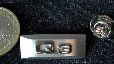 Sinnvoll Audi Pin Badge Q3 Logo Emblem 2d Edelstahl Aluminium Look Ausgezeichnet Im Kisseneffekt