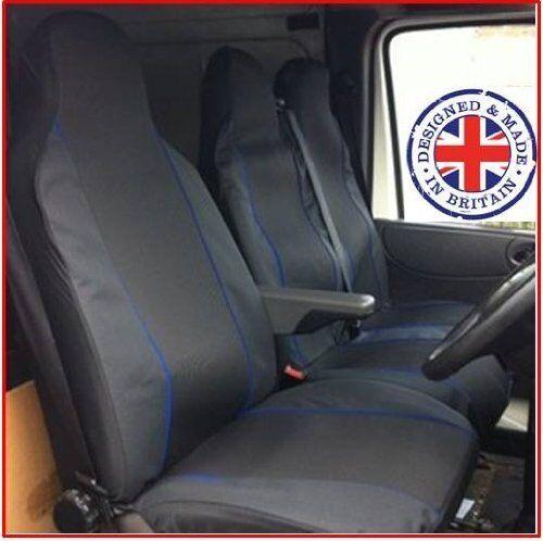 VAUXHALL VIVARO SPORTIVE VAN SEAT COVERS DPM BLUE PIPING DELUXE HEAVY DUTY 2-1