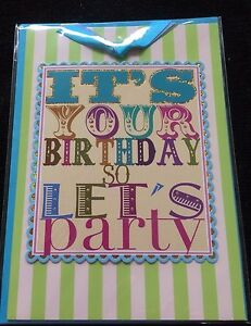Birthday Card It S Your Birthday So Let S Party Celebrate New