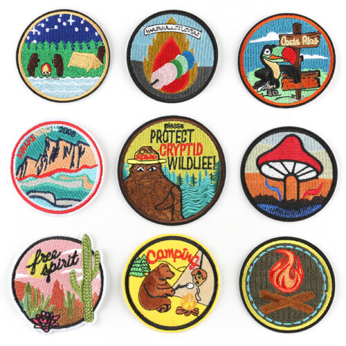 Embroidered Patches Iron Sew On Patches Transfers Badges Appliques Many Choices
