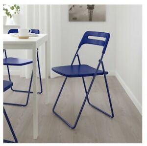 Fantastic Details About Ikea Nisse Dark Blue Lilac Folding Chair Light Chair Home Chair Squirreltailoven Fun Painted Chair Ideas Images Squirreltailovenorg