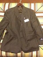 Stafford Mens Suit 40 35s Dark Brown Jacket Pant $325