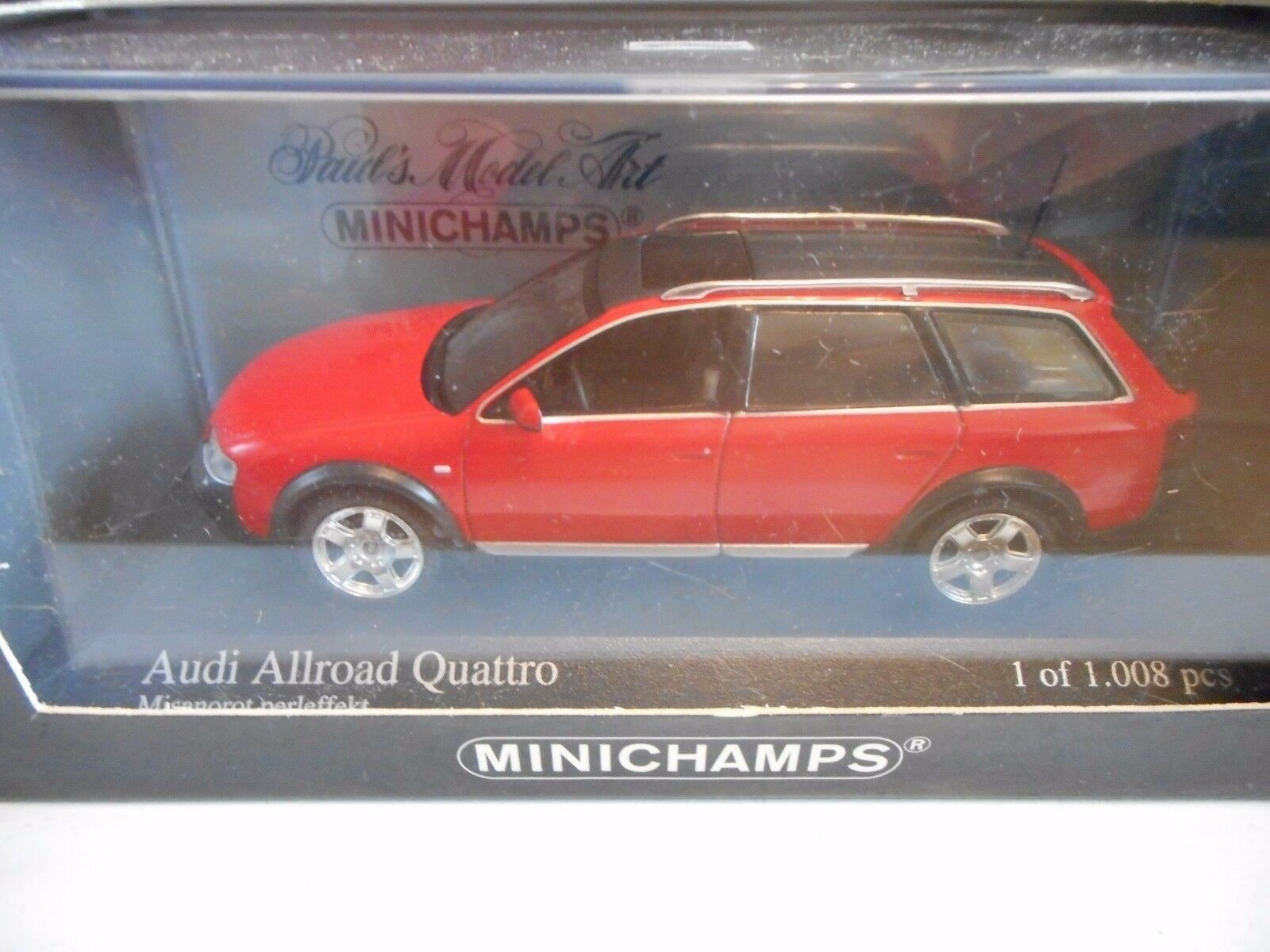 Minichamps Audi Allroad Quattro in Red Red Red on 1 43 in Box 23adff