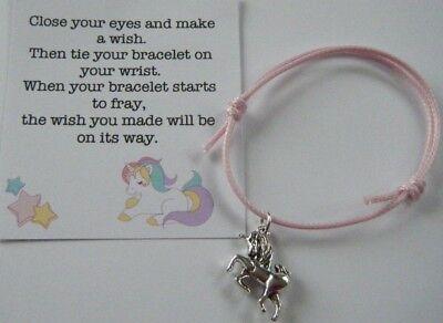 6  Unicorn Friendship Bracelets Girls Party Bag Fillers Gifts Etc Freepost