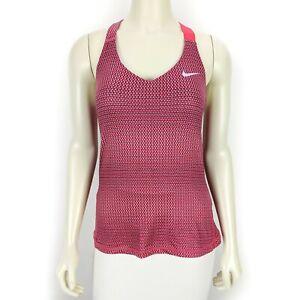 Nike-Women-039-s-Dri-Fit-Pink-Gray-Sleeveless-Workout-Activewear-Tank-Top-Medium
