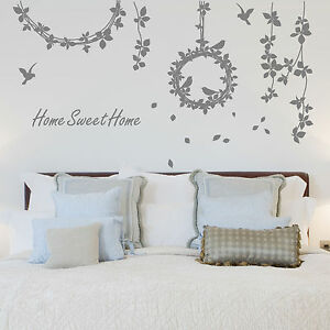 Large-Vine-Leaf-Flower-Birds-Wall-Stickers-Wall-Decal