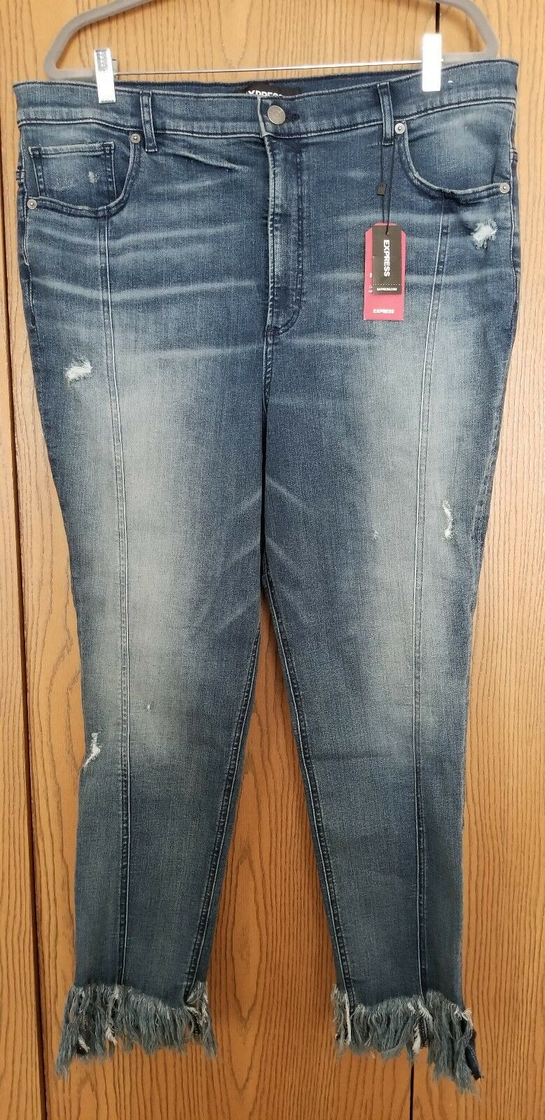 Express Women's Super High Waisted Perfect Stretch+ Ankle Leggings, Sz 18R, NWT