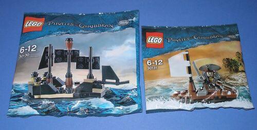 2x Lego Fluch der Karibik Jack Sparrow mit Boot und Mini Black Pearl OVP