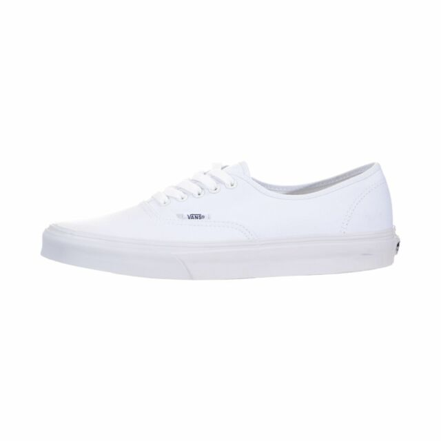 01dc1d73e1 VANS Authentic Classic Mens Size 8 White Textile SNEAKERS Shoes UK 7 ...