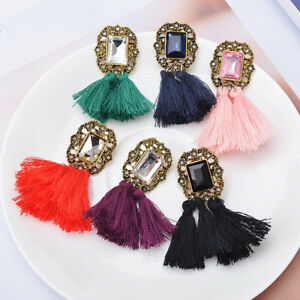 1-Pair-Fashion-Women-Vintage-Crystal-Tassel-Dangle-Ear-Stud-Earrings-Jewelry