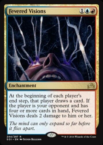 English Shadows Over Innistrad MTG Magic 1x Fevered Visions Light Play