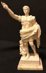 """Expressive Very Artistic Vintage Statue Of """"cesare Augusto"""" W 9""""tall Sgnd Buy One Get One Free Infant Angel"""