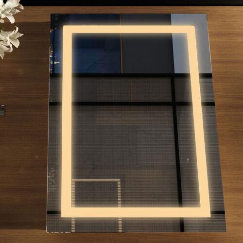 Badspiegel mit Beleuchtung LED Touch Badezimmerspiegel Wandspiegel Lichtspiegel