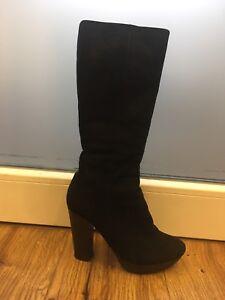 37 Damen High Echte heels Wildleder Stiefel Gr RHYT6q