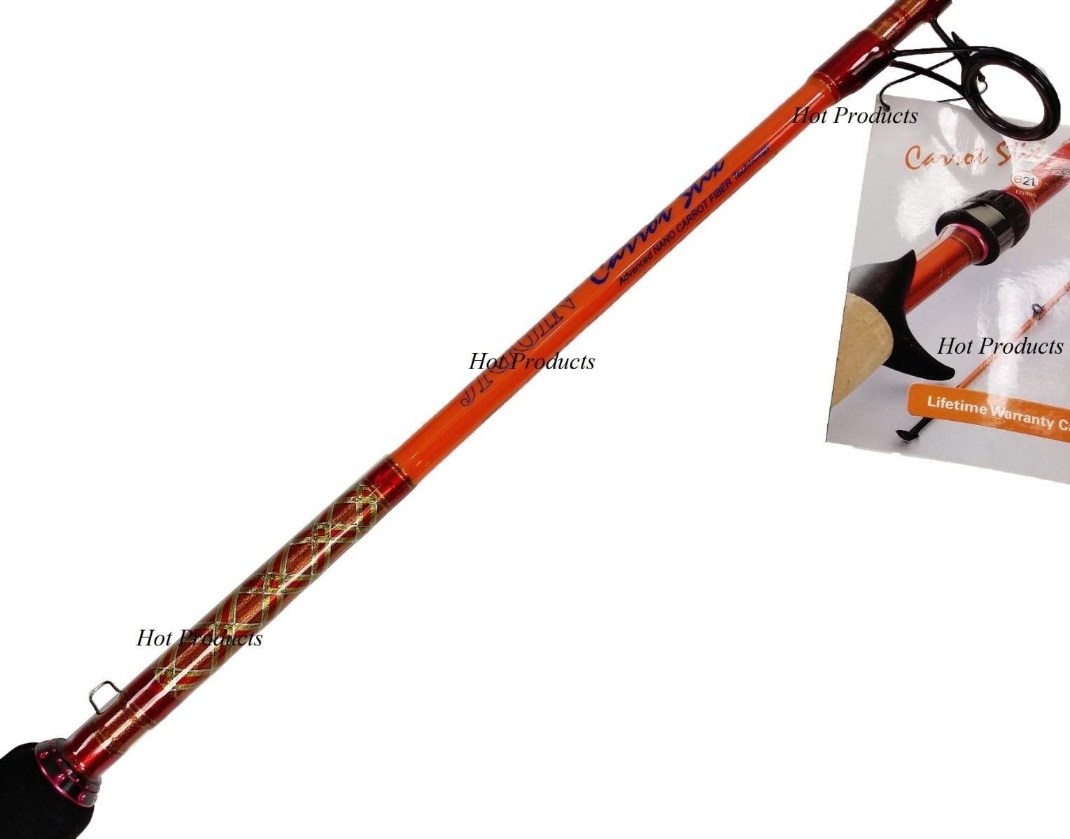 Carrot Stix JIGGING 6' 6  20-40 Lb SPINNING Saltwater Fishing Rod JCS661MH-S