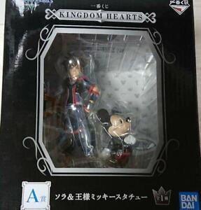Bandai Kingdom Hearts Ichiban Kuji Prize A Sora /& Mickey Statue Figure New