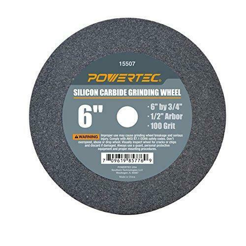 6in Bench Grinding Wheel Powertec Silicon Carbide 6 Inch 100 Grit Grinder Cutter for sale online
