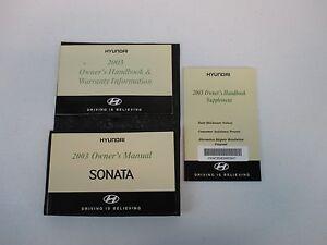 For 2009 Hyundai Sonata Owners Operators Manual Supplement Warranty Book W//Case
