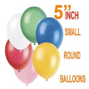 5-034-Inch-SMALL-Round-Plain-Latex-Party-quality-Balloons-wedding-birthday-balloons