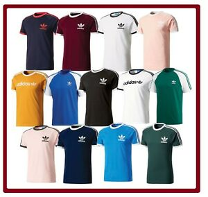 Adidas-Original-Trefoil-Californie-a-encolure-ras-du-Cou-Chemise-Homme-T-Shirt-S-M-L-XL-XXL-Neuf