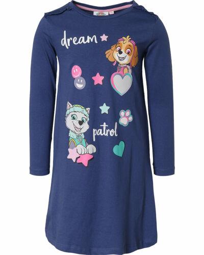 98-128 PAW PATROL Nachthemd Nachtwäsche mit Skye für Mädchen Marine Gr