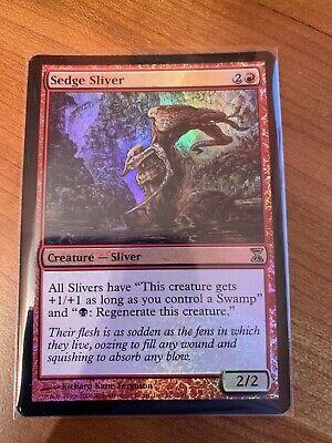 Sedge Sliver ~ Foil ~ NM ~ Time Spiral ~ EDH ~ Modern ~ MTG ~ Magic