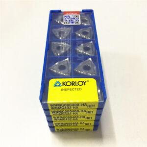 10pcs Korloy  WNMG430.5-HA WNMG080402-HA H01CNC Aluminum Inserts  Free Shipping