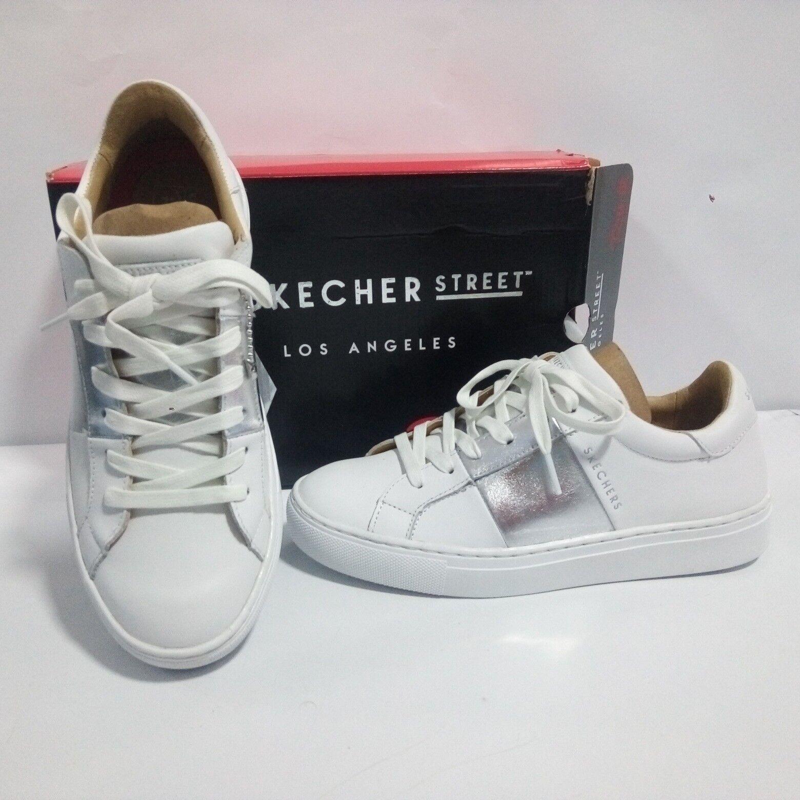 Scarpe Skechers Donna - Side Street 73550 Banded - Bianco - 73550 Street b5f222