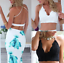 Choice-2-Colours-Black-or-Ivory-Crochet-Summer-Beach-Crop-Cropped-Top-Size-12-14 thumbnail 2