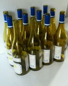 12 empty wine bottles burgundy style amber color for cork use - Empty colored wine bottles ...