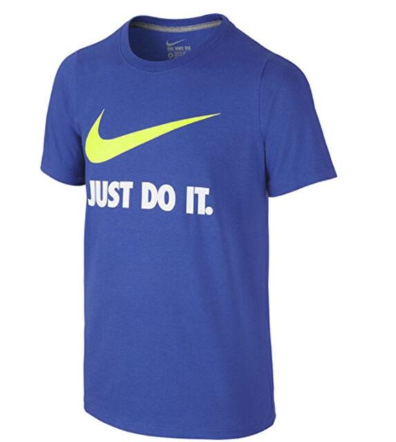 0d277f18 Nike Big Boys JDI Just Do It Swoosh T-shirt Blue Small for sale ...